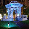 Zitrades Landscape Lights Laser Christmas Party Garden Light Stars Moving Firefly Projector Indoor Outdoor Lighting with Wireless Remote Control IP65 RGB for Patio Backyard Tree Wall House Decoration