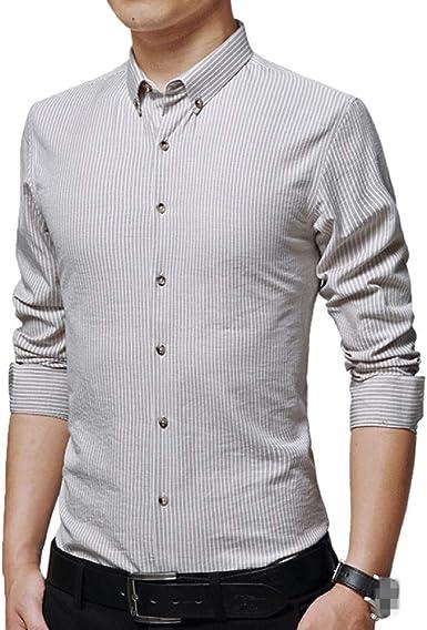 JIAMIJ Camisa Casual para Hombres Slim Fit Moda Negocio Elegante: Amazon.es: Ropa y accesorios