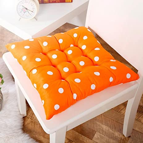 Chair Pads, Mikey Store Soft Home Office Square Cotton Polka Dot Seat  Cushion Buttocks Chair