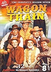 Special edition 8 DVD Set.  One of the longest running and most popular of all the television westerns, Wagon Train topped the ratings for eight seasons in the late 1950s and 1960s. These 32 color episodes of the 7th season are fully restored...