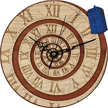 Amazon Com Nobce Home Decor Doctor Who Best 3d Art Wall Clock 12 Inch Wood Tardis Art Clock Home Decoration Accessories Modern Furniture Decor