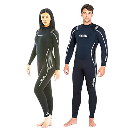 b64355eab3 Image Unavailable. Image not available for. Color  SEAC Libera 7mm High  Stretch Yamamoto Neoprene Full Wetsuit Mens Women ...