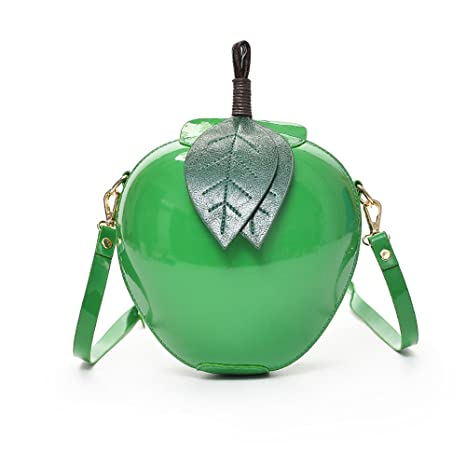 d94175029343 Cute Cartoon Bags Apple Shape Shoulder Bag for Girls Mini Crossbody Bags  Personality Purse Messenger Bag (Green) - - Amazon.com