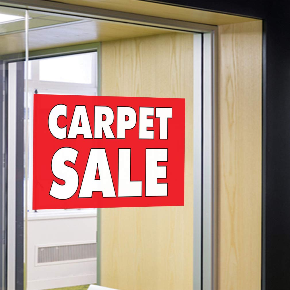 Decal Sticker Multiple Sizes Carpet Sale #1 Business Carpets Sale Outdoor Store Sign Red 34inx22in Set of 10