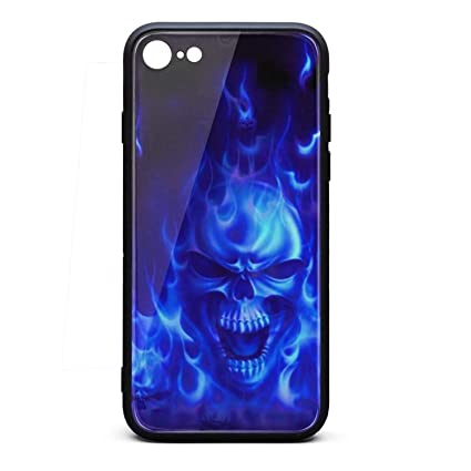 Amazoncom Basic Iphone 6s Case Blue Flames Skull Wallpaper