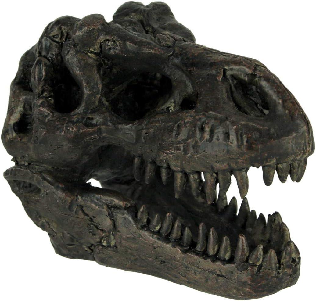 Things2Die4 Tyrannosaurus Rex Dinosaur Skull Fossil Statue Small