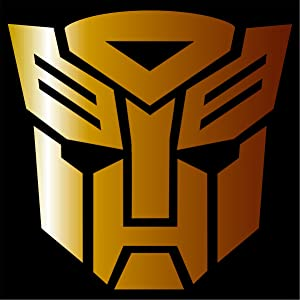 "Cove Signs Autobot - Sticker/Vinyl Decal - Gold 4"" - Transformers"