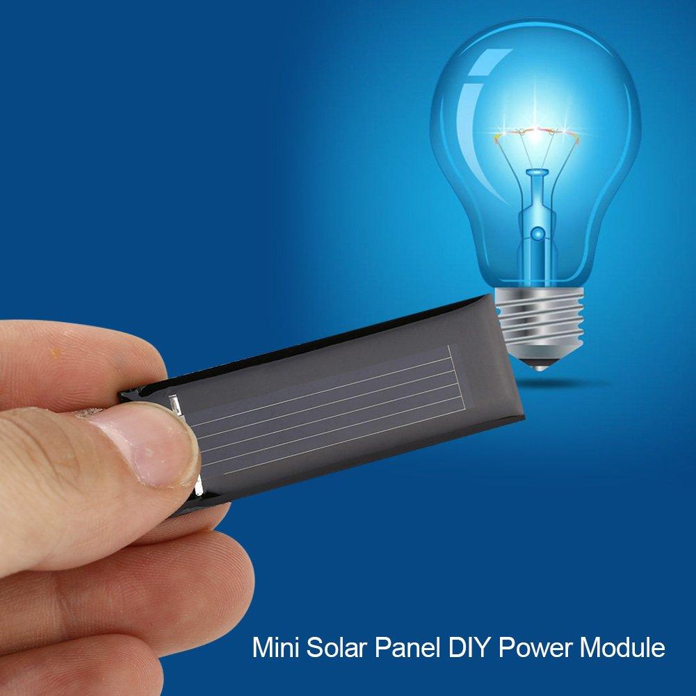 Mini Portable Board Battery Solar Panel DIY Power Module Charger 5318MM for Learning Zyyini 10pcs 0.5V 100MA Polycrystalline Solar Panel