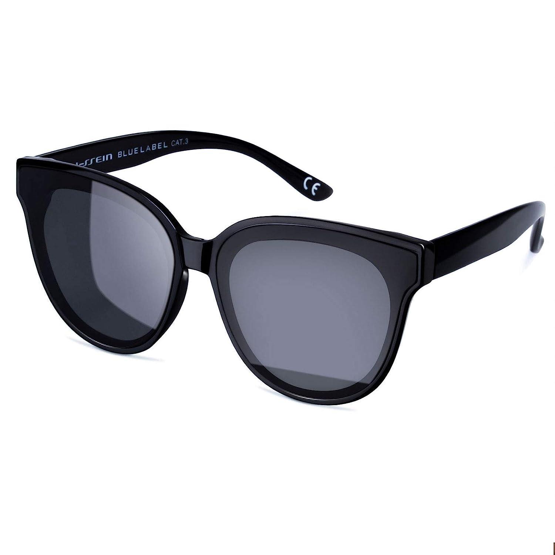 e0c714cfc Amazon.com  Vintage Cat Eye Women Eyewear Oversized Fashion Sunglasses  (Black)  Sports   Outdoors