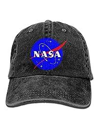Pastcloud Hat NASA Insignia Logo Men's Baseball Cap Vintage Denim Golf Cap