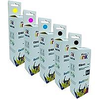 Kit 5x Refil Tinta Compatível Epson 664 L375 L365 L395 L455 L475