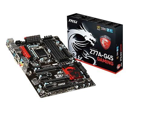 MSI Z77A-G45 Gaming - Placa Base (DDR3-SDRAM, DIMM, Dual, Intel, Celeron, Core i3, Core i5, Core i7, Pentium, Socket H2 (LGA 1155))