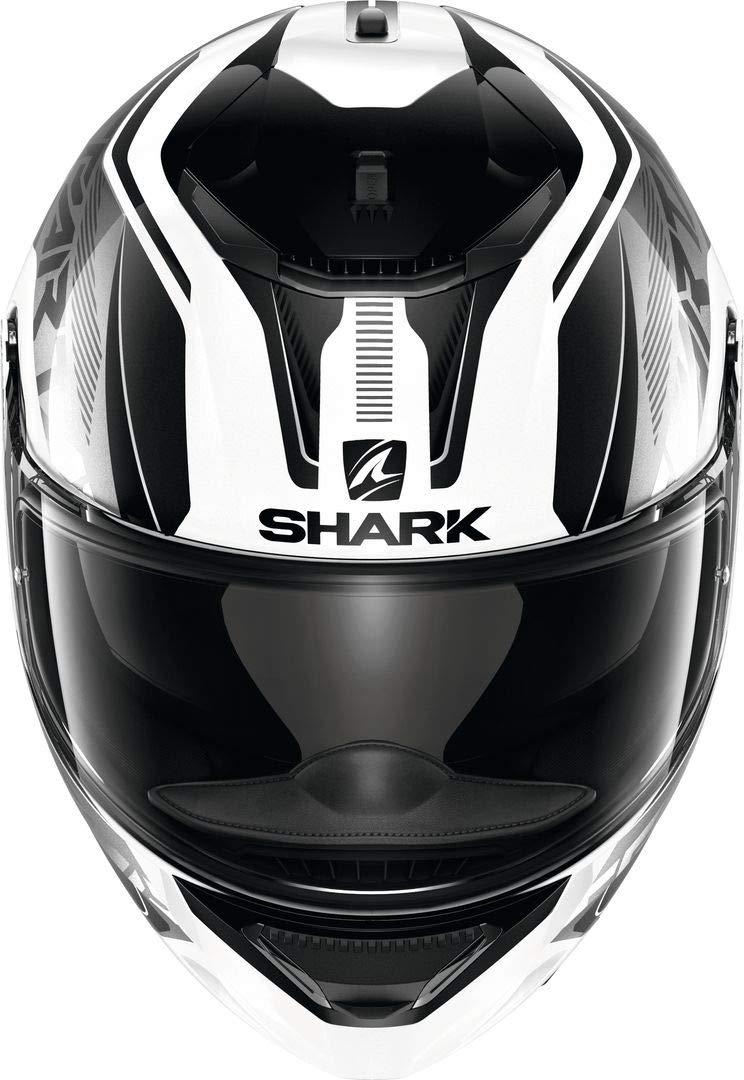 M Weiss//Schwarz Shark Motorradhelm SPARTAN 1.2 KARKEN WKK