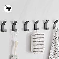 Bogeer 6 stuks handdoekhaken, plakhaken, wandhaken voor kledingkast, badkamer, toilet, handdoekhaken, waterdicht, zonder…