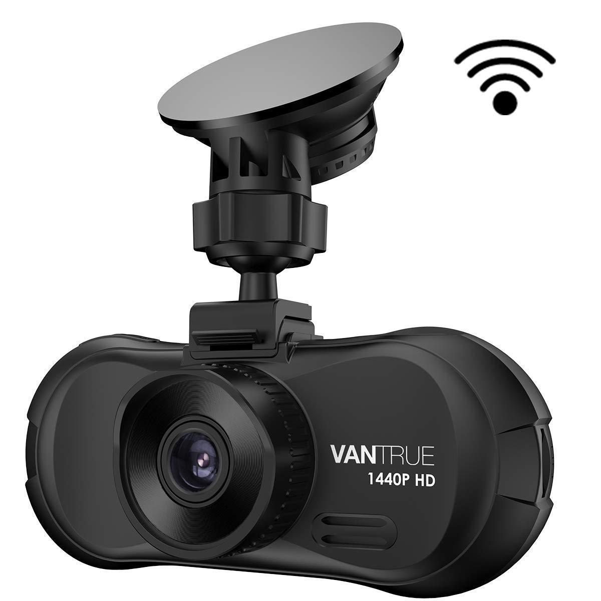 Caméra de voiture WiFi, Vantrue X3 Super HD 2.5K 1440P Dashcam Voiture Enregistreur de Conduite Écran LCD 2.7 Pouces, 170 ° Grand Angle, Super Vision Nocturne HDR, Mode Parking, Enregistrement en boucle, Capteur G, Détection de mou