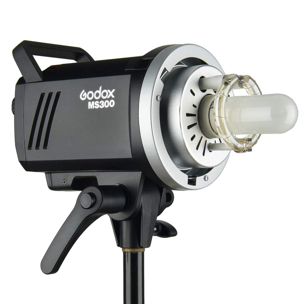 Godox MS300 Compact 300W Studio Flash,Small and Portable 2.4G Wireless X System GN58 5600K Monolight with Bowens Mount 150W Modeling Lamp, 0.1-1.3s Recycle Time Outstanding Output Stability by Godox