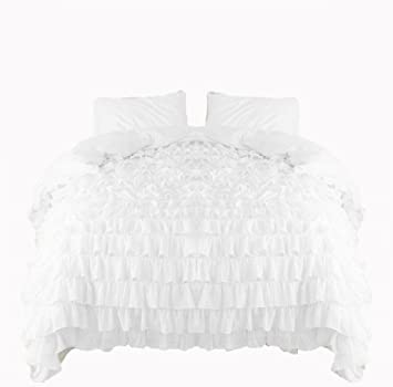 bath luxury white ruffle beyond duvet from linen bed cover of amp buy