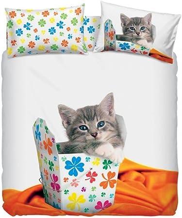 Copripiumino Singolo Bassetti Animali.Copripiumino Singolo Cotone Bassetti Lucky Cat Amazon It Casa E