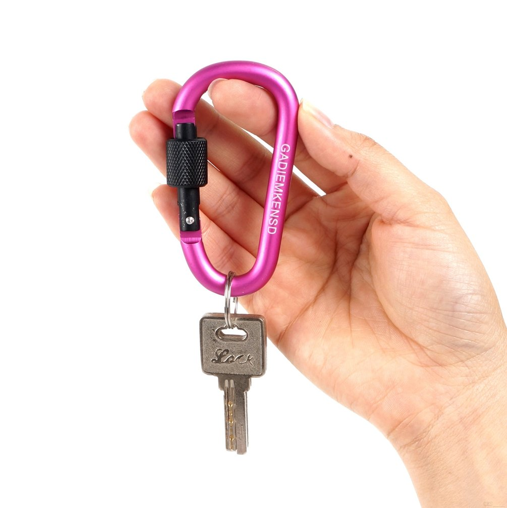 Not for Climbing GADIEMKENSD Aluminum Alloy Outdoor High Strength Carabiner Key Chain Clip Hook For Camping Hiking