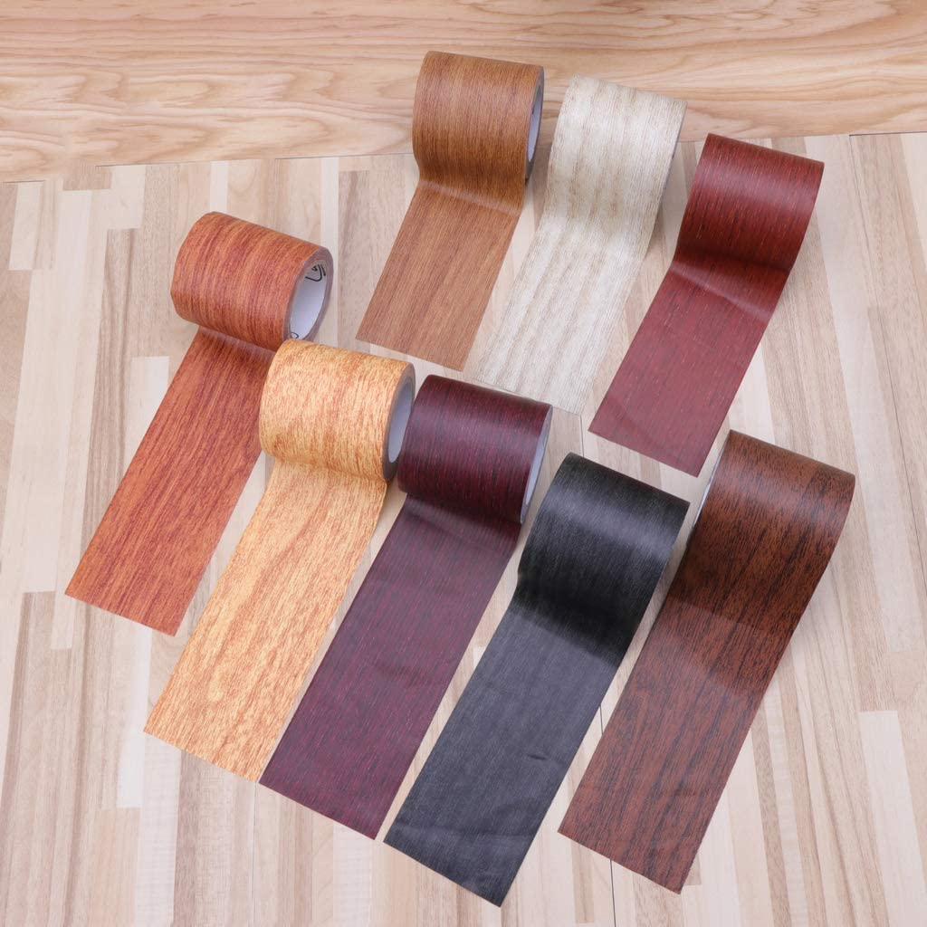 siwetg 5Mt//Roll Realistic Wood Grain Repair Tape 8 Colours For Furniture 8
