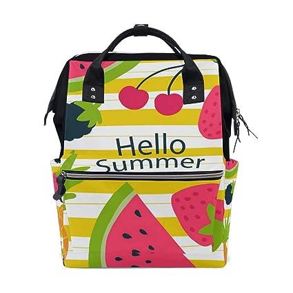 ALINLO Hello - Bolsas para pañales de piña de verano, sandía ...