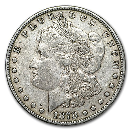 (1878 Morgan Dollar 7 Tailfeathers Rev of 78 XF $1 Extremely Fine)
