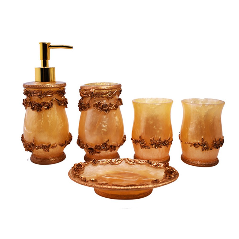 Resin Bathroom Sets Supplies Lotion Soap Dispensers Toothbrush Holder Rinse Cup Bathroom Accessories Supplies