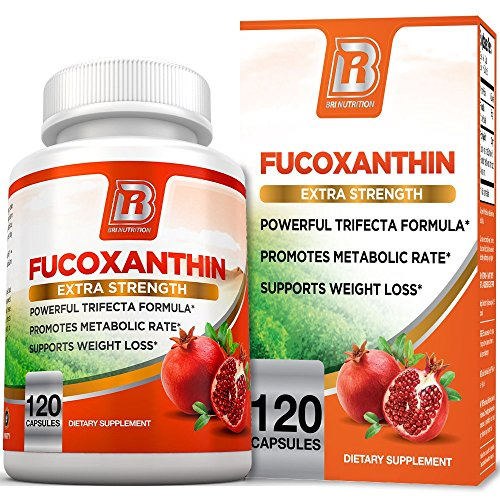 BRI Nutrition Fucoxanthin - Maximum Strength Seaweed Extract Plus Green Tea Extract Metabolism Booster - 60 Day Supply - 120 Capsules