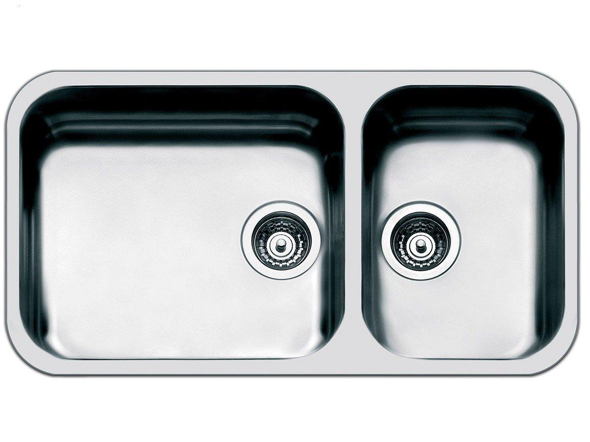 Smeg UM4530 - Fregadero (2 senos, 450 x 400 mm, 18 cm, 360 x 375 mm, 18 cm, 8,89 cm (3.5')) 89 cm (3.5))