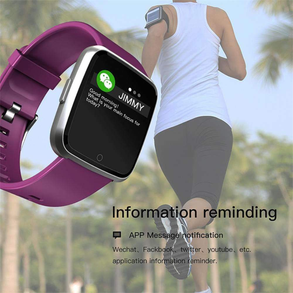 Pulsera Actividad Mujer,Miya Pulsera Reloj Deportivo Inteligente con Monitor de sueño Impermeable IP67,Pulsómetro,Notificación de Mensajes, Monitor de Sueño ...
