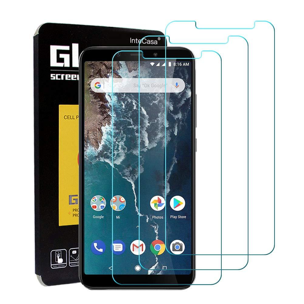 InteCasa [ 3 Pack Protector de Pantalla para Xiaomi Mi A2, Protector Cristal Templado Vidrio Templado,9H Dureza, Alta Definicion, Sin Burbujas para Xiaomi Mi A2 - Transparente