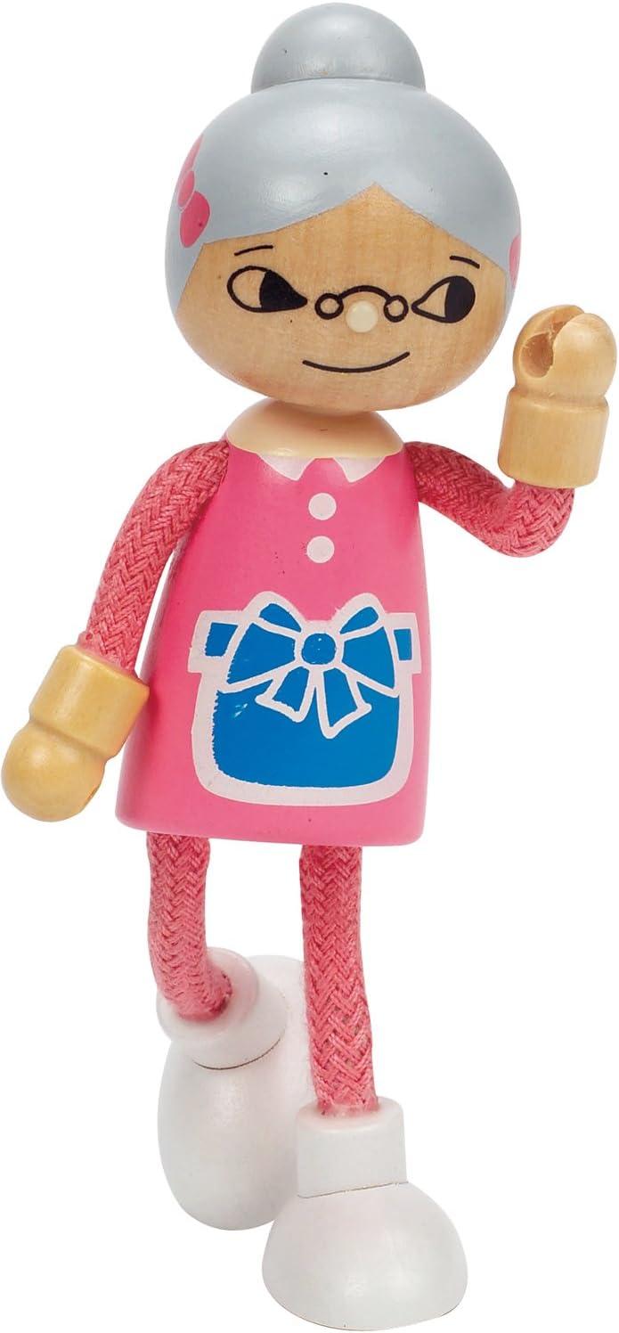 Hape Modern Family Wooden Grandmother Doll