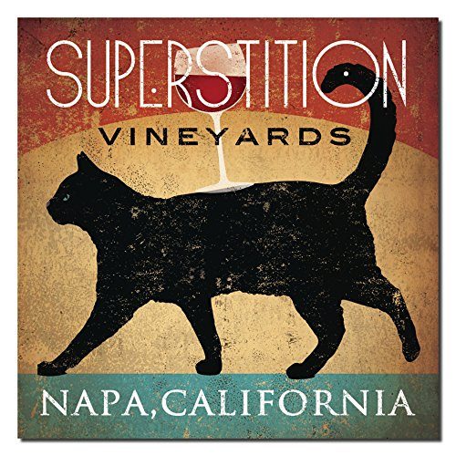 Superstition Vineyards Napa, California Black Cat Poster by Ryan Fowler