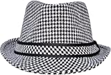 Unisex Women Men Short Brim Structured Gangster Manhattan Trilby Fedora Hat
