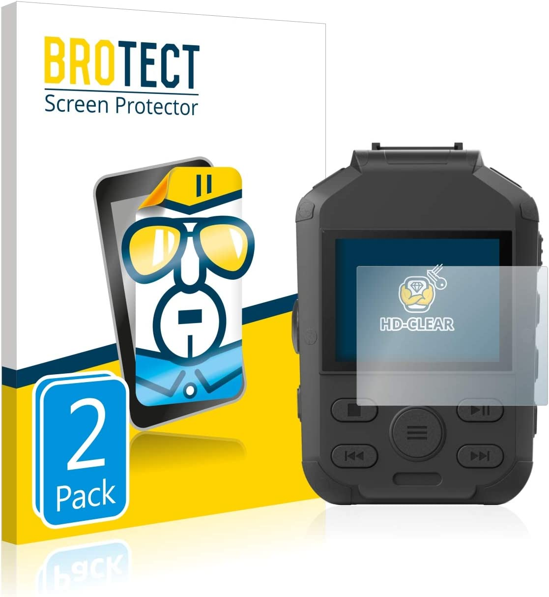2X HD-Clear Screen Protector for Philips DVT3120 BROTECT Crystal-Clear Dirt-Repellent Hard-Coated