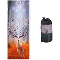 """PIDO Yoga Towel Non-Slip Sweat-Absorbent Microfiber Towel Convenient Widened Folded Fitness Blanket with Bag 72""""x26…"""