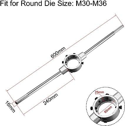 uxcell 65mm ID Round Die Stock Handle Wrench,for M30-M36 Round Die,Adjustable Die Holder
