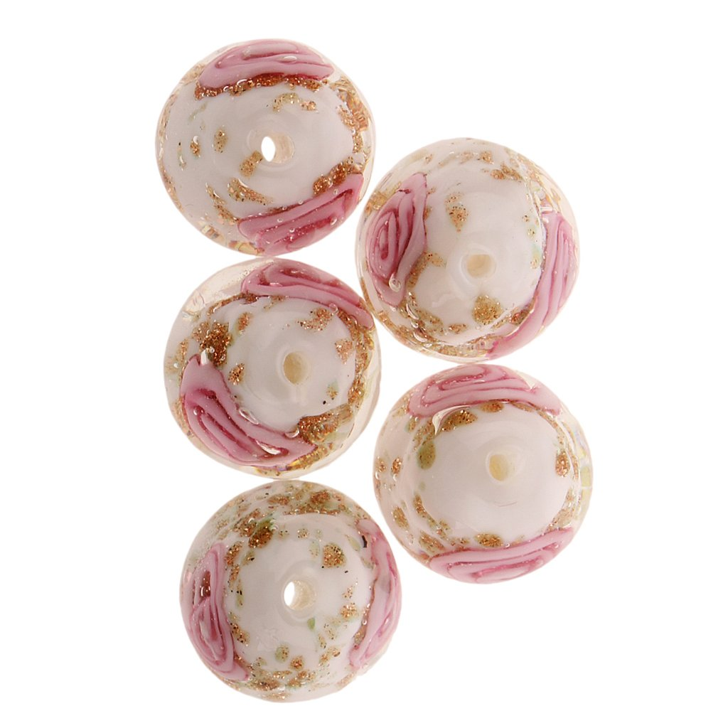 Plastica Lila sharplace 5/X Fiore di Perline per creare perle Spacer Bead Creazione Di Gioielli 12/mm