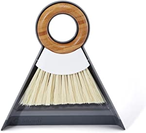 Full Circle Tiny Team Mini Dustpan and Brush Set, White