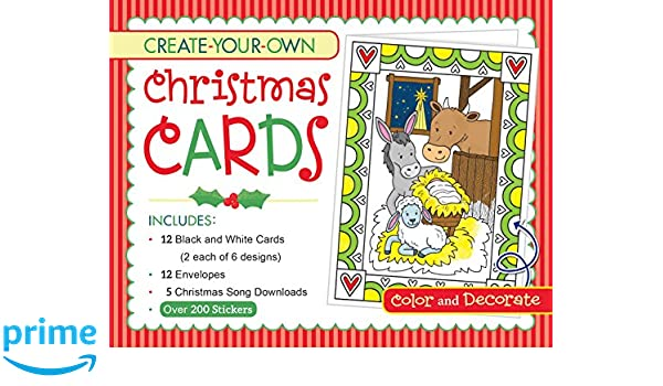 create your own christmas cards activity box twin sisters karen mitzo hilderbrand kim mitzo thompson 9781683227014 amazoncom books