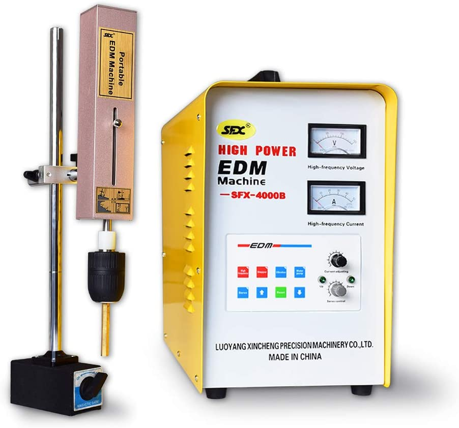 máquina de descarga eléctrica portátil EDM roto grifo removedor extractor de tornillo de la máquina de la erosión de la chispa toque quemador