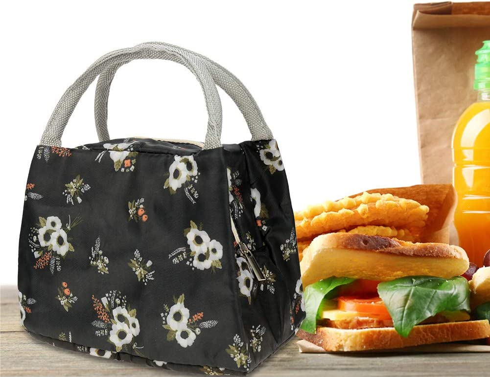 Reusable Lunch Cooler Bag Lunch Container Waterproof Lunch Holder for Women and Men Fallen Leaves Cerolopy Lunch Bag Insulated Tote Bag Lunch Box