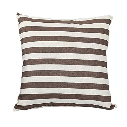 Loolik Fundas de Cojines,Estilo de Rayas Lino Throw Pillow ...