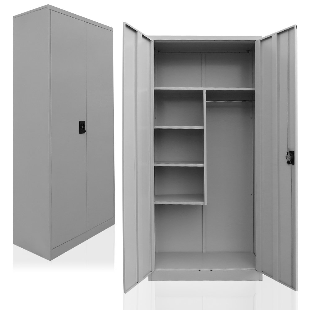 Cleaning supplies cabinet, steel broom closet, linen cupboard ...