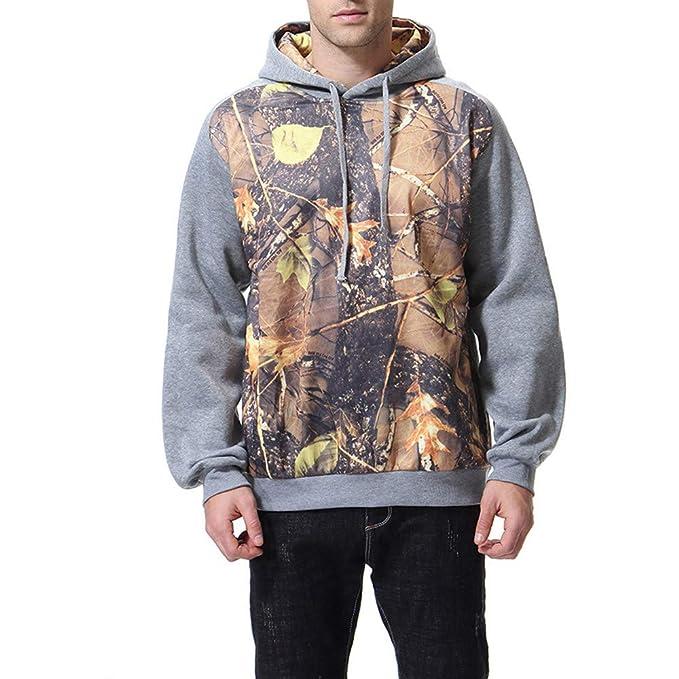 MEIbax Sudaderas con capucha para Hombre Abrigo hombre Chaqueta Outdoor Casual Moda Hombre Otoño Invierno Estampado de Manga Larga con Capucha Sweatershirt ...