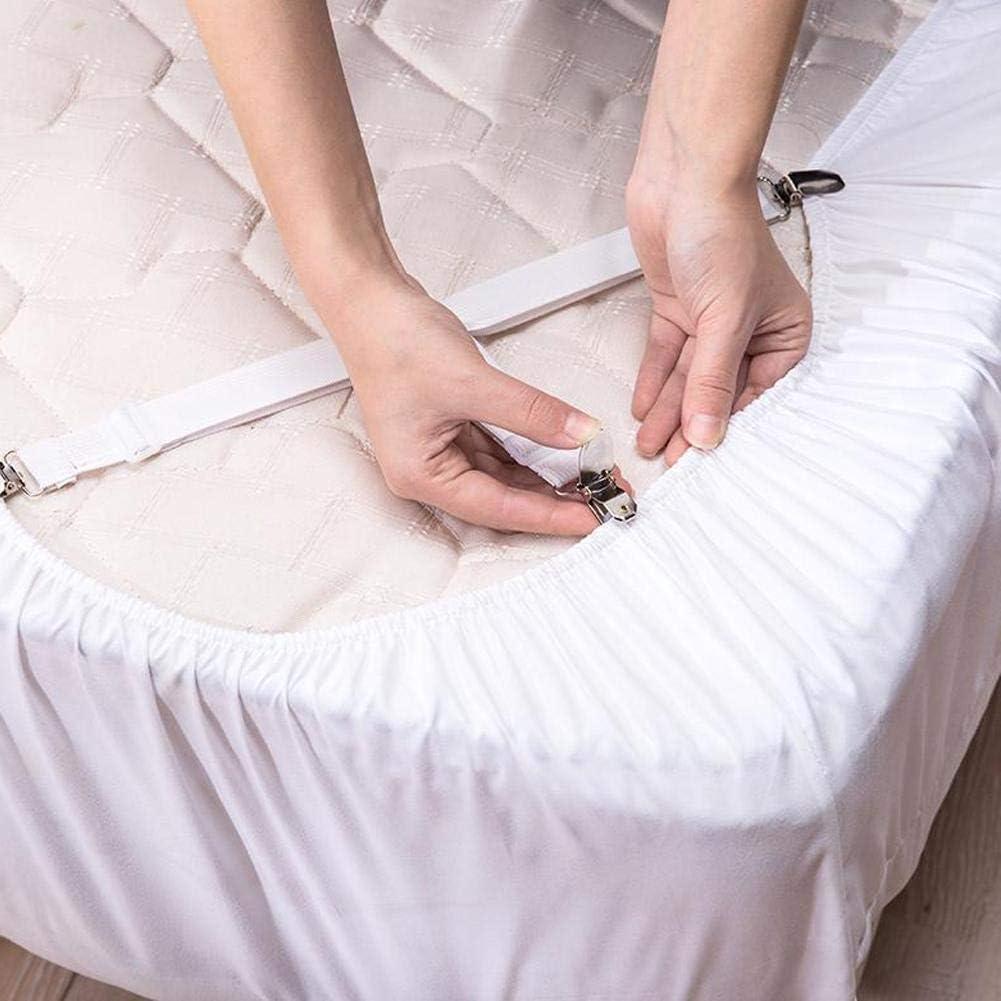 Sujetadores Antideslizantes para cintur/ón para Sujetar colchones Accesorios para Textiles del hogar Snow Island Mantas Juego de 4 Pinzas el/ásticas para Sujetar s/ábanas