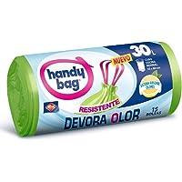 Handy Bag Bolsas de Basura 30L, Extra Resistentes, Elimina Olores, 15 Bolsas