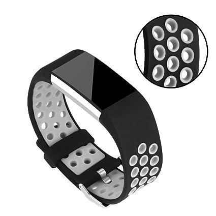 Bracelet de rechange pour montre connectée Fitbit Charge 2 - En silicone, doté de multiples