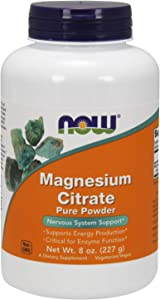 NOW Supplements, Magnesium Citrate Pure Powder, 8-Ounce