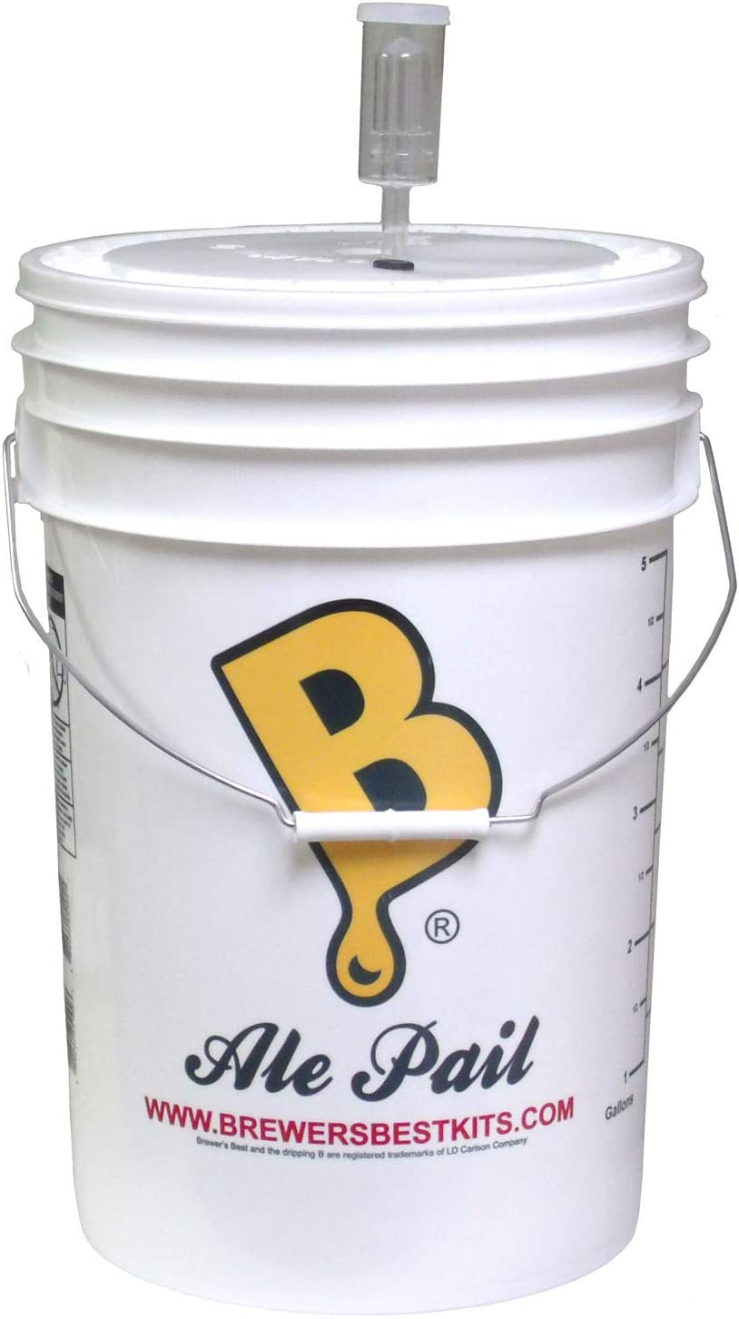 6.5 Gallon Fermenting Bucket with Grommeted Lid and 3-piece Airlock